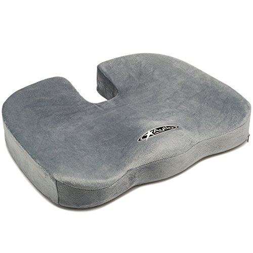 Aylio Comfort Foam Coccyx Cushion for Back Pain Relief and Sciatica in Office Chair and Car Seat Pillow (Office Chair Padding compare prices)