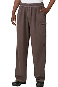 Chef Works UPEW Enzyme Utility Chef Pants, Small, Chocolate