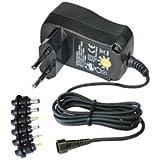 Mode Power Supply | Entrada: 100-240V CA, 50/60 Hz, 85mA | Salida: DC 600mA 3-4,5-5V | 6V DC - 500mA, 7.5V DC - 480mA | DC 9V - 400mA, 12V DC - 300mA