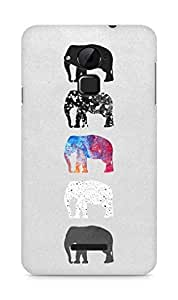 Amez designer printed 3d premium high quality back case cover for Coolpad Note 3 (Colourful Elephants)