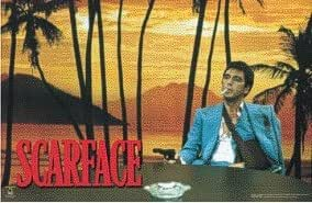 Scarface (Palm Trees - Behind Desk) Movie Poster