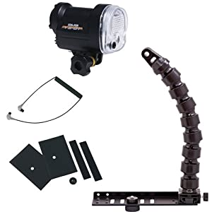 Sea & Sea YS-01 Entry-Level Lighting Package with DS-TTL Function and LED Target Light, Compact Digital Tray & Flex Arm, Fiber Optic Cable, Mask Set