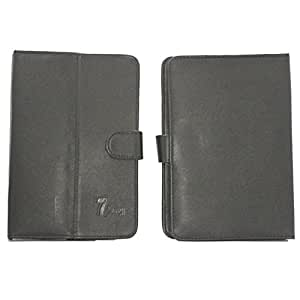 Jo Jo G12 Pure Leather Flip Flap Case Cover Pouch Carry For Lenovo Ideatab A2107 Black