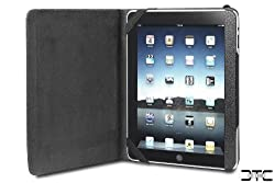Acase Premium Leather Slimline Carrying Case for Apple iPad and HP TouchPad (Black)