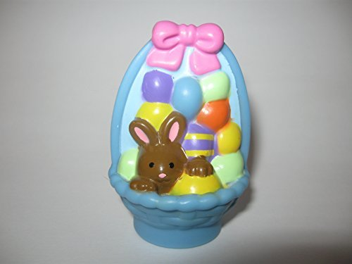 Fisher Price Little People Easter Basket Blue Brown Bunny, Eggs Holiday Play set Replacement Piece - 1