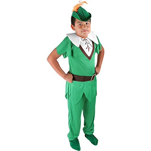 Child's Deluxe Peter Pan Halloween Costume (Size: Medium 8)
