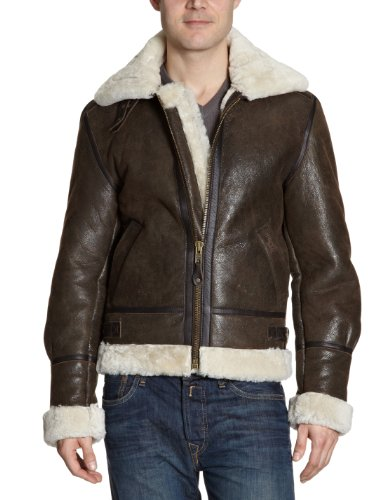 Schott NYC - Giacca, uomo, Marrone (Braun (Brown)), M