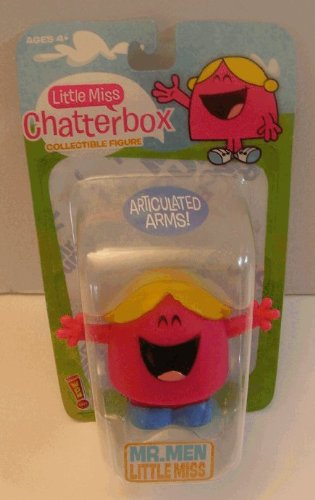 Buy Low Price Thinkway MR. Men Little Miss  Chatterbox  2″ Collectible Figure w/ Articulated Arms (B00359X79Y)