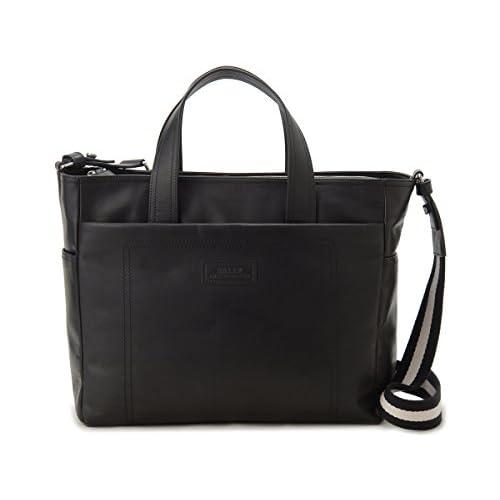 バリー Bally ブリーフケース TAFFYN261 ビジネスバッグ ショルダー付 ブラック メンズ (並行輸入品)