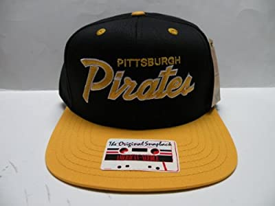 MLB Pittsburgh Pirates Team Script 2 Tone Retro Snapback Cap