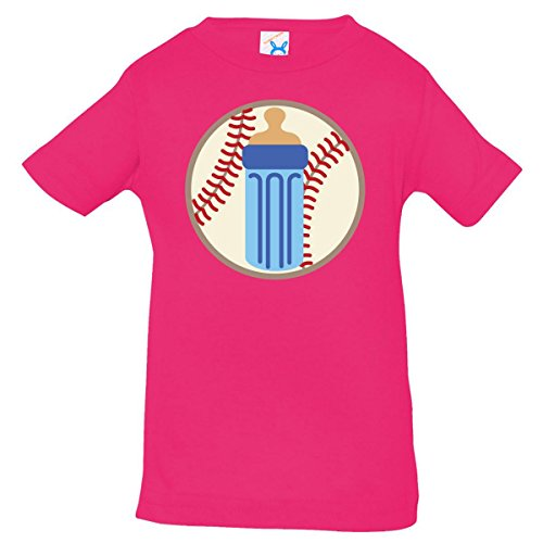 Inktastic Baby Boys' Baseball Baby Bottle Baby T-Shirt 6 Months Hot Pink