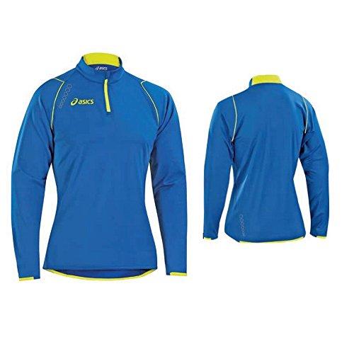 ASICS Maglia invernale atletica running uomo SCULPTOR blu giallo T268Z6