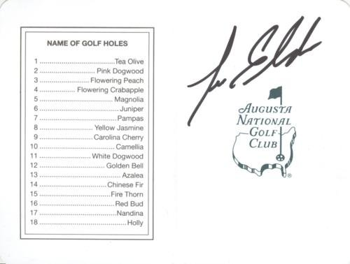 Lee Elder Autographed Masters Augusta National Golf Club Scorecard