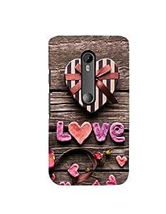 Citydreamz Love\Hearts\Valentine Hard Polycarbonate Designer Back Case Cover For Motorola Moto X Play