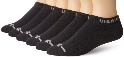 언더아머 UA 남성 발목양말 6켤레 세트 Under Armour Mens Charged Cotton No-Show Socks (Pack of 6)