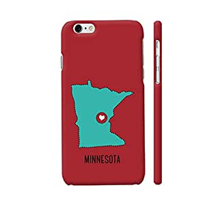 Colorpur Minnesota State Heart Designer Mobile Phone Case Back Cover For Apple iPhone 6 / 6s | Artist: Torben