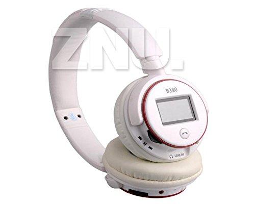 Zealot V3.0 Sport Stereo Wireless Bluetooth Headphone Headset Mic Earphone White