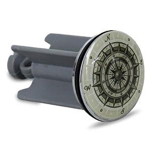 2 x Waschbeckenstöpsel Stöpsel Waschbecken Abflussstöpsel Maritime Kompass