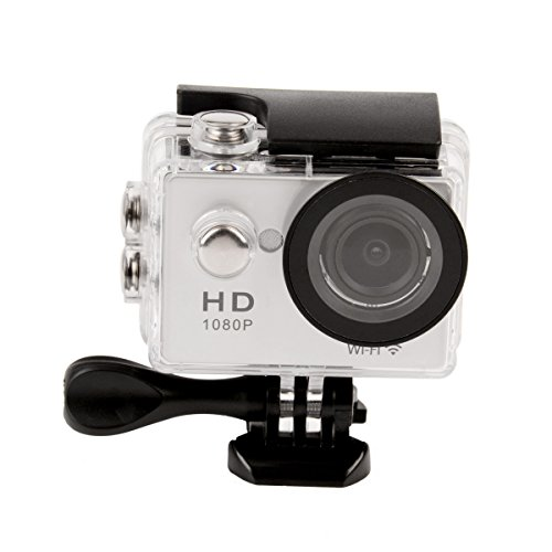 CkeyiN Full HD 1080P WIFI Camera d'action Étanche + Télécommande 2.4G + Boîtier étanche, 140° grand angle, 2 '' écran LCD