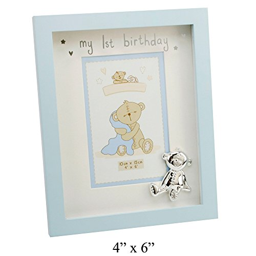 My 1st Birthday Blue Mounted Photo Frame By Haysom Interiors