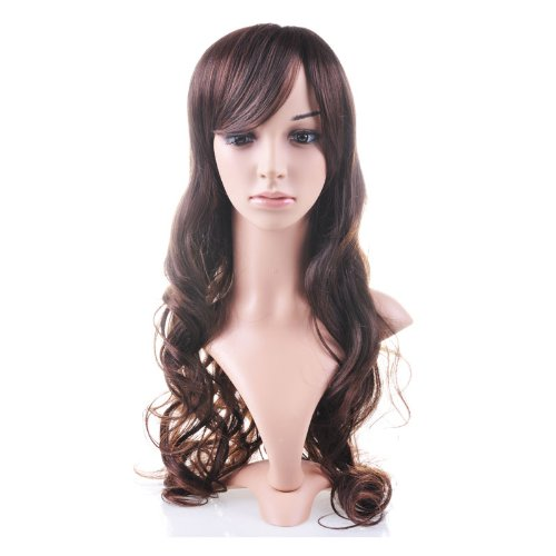 Beautiful Brown Curly Long Hair Wig Human Health