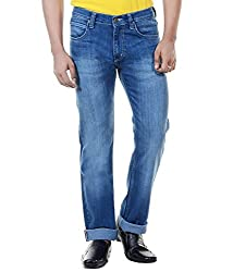 Lee 100% Cotton Casual Mens Faded Jeans (40W x 34L)