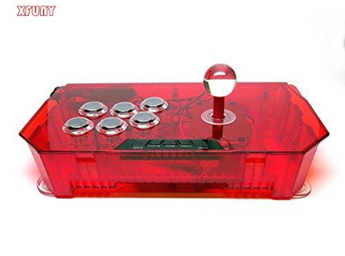 XFUNY(TM) PS3 & PC USB Universal Arcade Joystick FightStick - Red (Mortal Kombat Vs Marvel Xbox 360 compare prices)