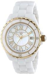 "Swiss Legend Women's 20050-WWGR ""Karamica Collection"" White Ceramic Bracelet Watch"