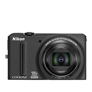 6. Nikon COOLPIX S9100 12.1 MP CMOS Digital Camera with 18x NIKKOR ED Wide-Angle Optical Zoom Lens and Full HD 1080p Video (Black) Price: $177.93