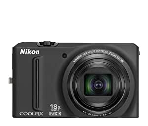 Nikon COOLPIX S9100 12.1 MP CMOS Digital Camera with 18x NIKKOR ED Wide-Angle Optical Zoom Lens and Full HD 1080p Video (Black) (OLD MODEL)
