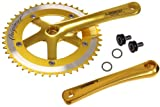 LASCO Track Fixie Crankset Crank 165mm 46 Teeth Gold
