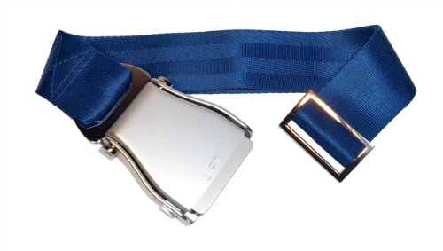 aereo-skybelt-cintura-argento-blu-airline-seat-belt-