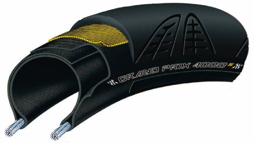 Continental Grand Prix 4000S Bicycle Tire with Black Chili (700x23, Black)