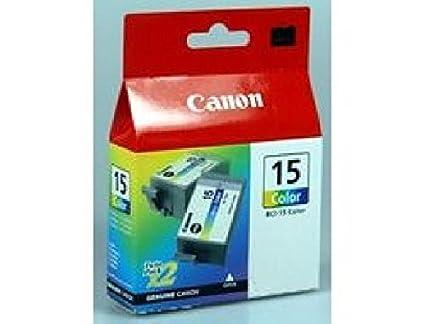 CANON bCI-twin-pack colour 15 lot de 2-couleur (cyan, magenta, jaune)-original-tintenbehälter-pour 80 bCI15C i70, cANON cOLOR iNK i70 8191A002 (2) 2xNo.15 2 x 50 pages
