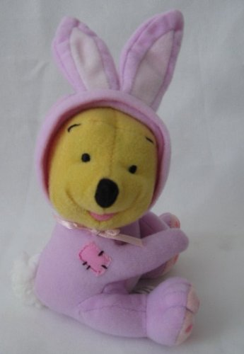 Winnie The Pooh Plush Dressed As Bunny Fisher Price Disney Easter Basket Hugger