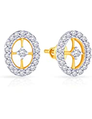 Malabar Gold & Diamonds 18k Yellow Gold And Diamond Stud Earrings