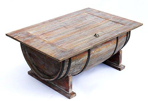 Couchtisch Weinfass 5084 Tisch Aus Holz Weinregal 80cm