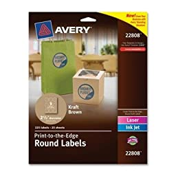 AVE22808 - Avery Round Print-to-the-Edge Labels