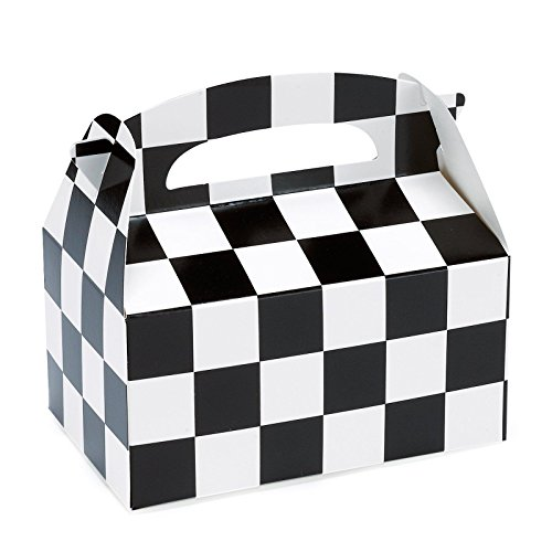 Black and White Check Empty Favor Boxes (4)
