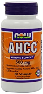 Now Foods Ahcc 500mg, Veg-Capsules, 60-Count