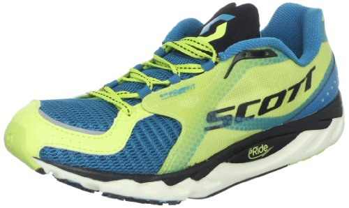 Scott Running Women's Eride AF Trainer Running Shoe,Blue/Yellow,10.5 M US