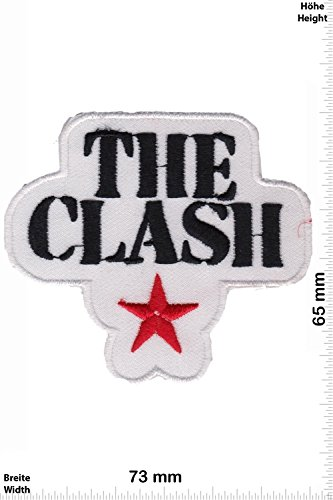 Patch - The Clash - white - Punk Band - MusicPatch - Rock - Chaleco - toppa - applicazione - Ricamato termo-adesivo - Give Away