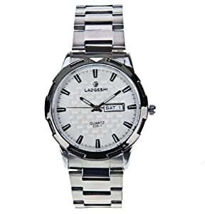 LaoGeShi Watch White Dial Steel Band Wrist Watch 336-1