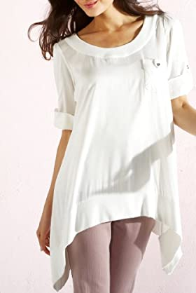Per Una 3/4 Turn Up Sleeve Slouch Tunic [T62-2723H-S]