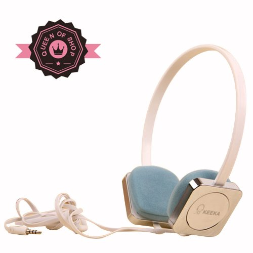 Ke700 Sliver Cute Metal Gloss 40 Mm Speaker Adjustable Over Ear Headphone For Pc Mp3 Mp4 Ipod With Microphone