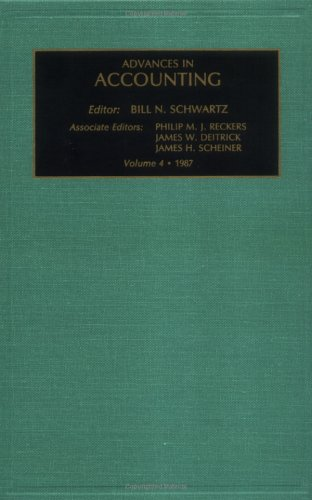 Advances in Accounting: Vol 4 (Advances in Accounting) (Advances in Accounting No. 1)