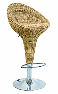 Eliza Tinsley Rattan Effect Adjustable Barstool       Office Productsreviews and more description