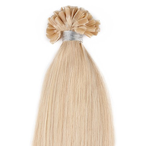 "Beauty7 18"" 20"" 22"" 24"" Pre Bonded Nai U Tip Real Remy Human Hair Extensions 100G 100S 1G/S #24 Natural Blonde (22"" 1G/S) front-314022"