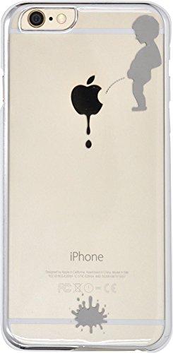 PLATA iPhone 6 4.7インチ 用 リンゴマーク アート ケース 【 小便小僧 シルバー 】 IP6-5024SV