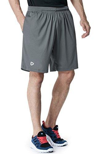 TM-MTP07-DGY_Small j-M Tesla Men's Lightweight HyperDri Running Shorts With Pockets MTP07